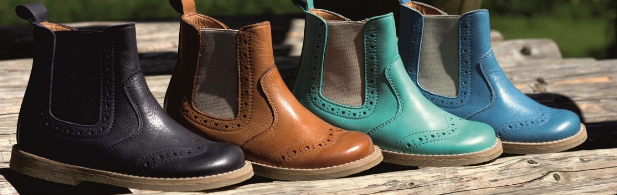 row of chelsea boots